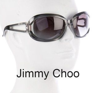 Jimmy Choo black sunglasses Angie's case and cloth